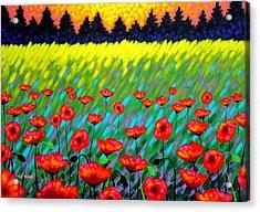 Poppy Scape Acrylic Print by John  Nolan