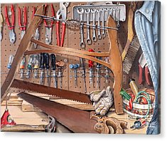 Pop's Work Bench Acrylic Print