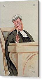 Popular Judgement, From Vanity Fair, 1st January 1876 Colour Litho Acrylic Print