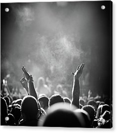 Popular Music Concert Acrylic Print by Alenpopov