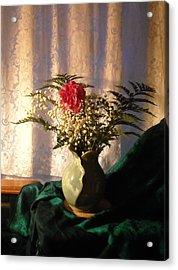 Porcelain Petal Vase 4 In Still Life Acrylic Print