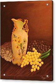 Porcelain Vase Acrylic Print by Lou Magoncia