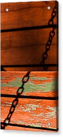 Acrylic Print featuring the photograph Porch Chain Reflections by Haren Images- Kriss Haren
