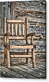 Porch Chair Acrylic Print by Heather Applegate