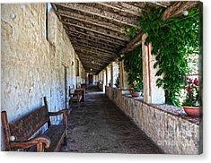 Porch On Carmel Mission Acrylic Print by RicardMN Photography