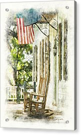 Porch Rocker At The Kaminski House Acrylic Print