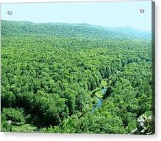 Porcupine River Acrylic Print by Meghan Ziegel