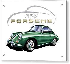 Porsche 356 Coupe Green  Acrylic Print