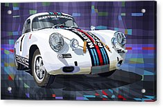 Porsche 356 Martini Racing Acrylic Print by Yuriy Shevchuk