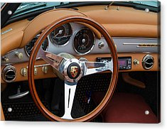 Porsche 356b Super 90 Interior Acrylic Print by Roger Mullenhour