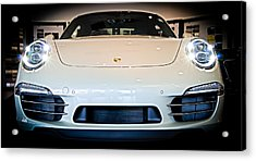Porsche 911 50th Front With Led's Acrylic Print