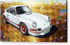 Porsche 911 Rs Acrylic Print by Yuriy Shevchuk