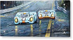 Porsche 917 K Gulf Spa Francorchamps 1971 Acrylic Print by Yuriy  Shevchuk