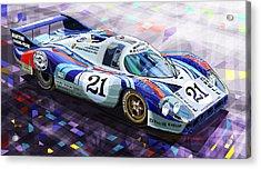 Porsche 917 Lh Larrousse Elford 24 Le Mans 1971 Acrylic Print