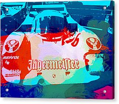 Porsche 956 Jagermeister Acrylic Print by Naxart Studio