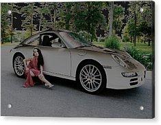 Porsche Chromatic Acrylic Print by Paul Wash