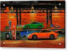 Porsche Depot Acrylic Print