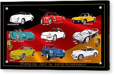 Porsche Times Nine Acrylic Print