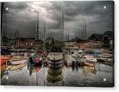 Port At Como Lake Acrylic Print