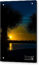 Port Charlotte Beach Sunset In January Acrylic Print by Anne Kitzman