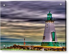 Acrylic Print featuring the photograph Port Dalhousie Lighthouse by Jerry Fornarotto