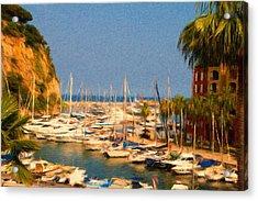 Port De Fontvieille Acrylic Print by Jeffrey Kolker