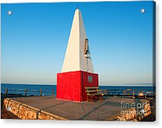 Acrylic Print featuring the photograph Port Denison Obelisk by Yew Kwang