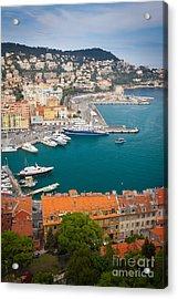 Port Du Nice Acrylic Print by Inge Johnsson