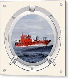 Port Hole View Acrylic Print by Roy  McPeak