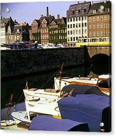Port In Copenhagen Acrylic Print