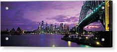 Port Jackson, Sydney Harbor And Bridge Acrylic Print
