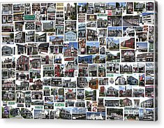 Port Jefferson Photo Collage Acrylic Print by Steven Spak