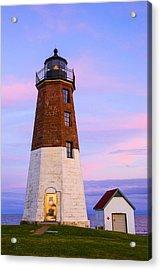 Port Judith At Sunset Acrylic Print by Karol Livote
