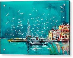 Port Acrylic Print by Kovacs Anna Brigitta