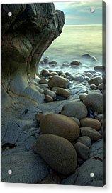 Port Nanven Acrylic Print by Pete Hemington