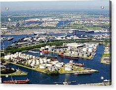 Port Of Amsterdam, Amsterdam Acrylic Print by Bram van de Biezen