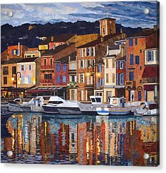 Port Of Cassis Acrylic Print by Lenore Crawford