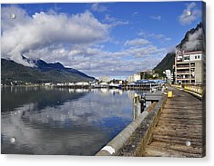 Port Of Juneau Acrylic Print by Cathy Mahnke