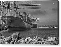Port Of Long Beach Acrylic Print by Joseph Hollingsworth