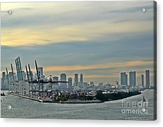 Port Of Miami Acrylic Print
