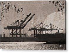 Port Of Oakland Acrylic Print