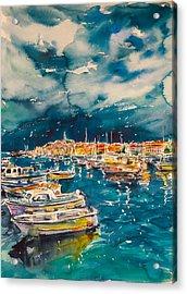 Port Of Rovinj Acrylic Print