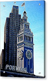 Port Of San Francisco Ferry Building On The Embarcadero 5d20834 Artwork Acrylic Print by Wingsdomain Art and Photography