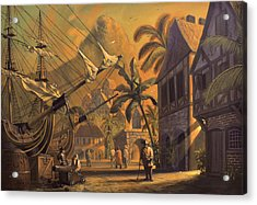 Port Royal Acrylic Print by A Prints
