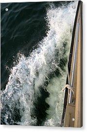Port Side Crusing On Casco Bay Acrylic Print by Patricia E Sundik