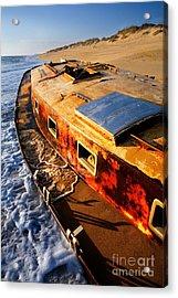 Port Side Down Captain - Outer Banks Acrylic Print by Dan Carmichael