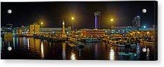 Port Vell At Night, Barcelona Acrylic Print