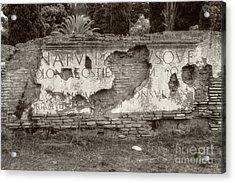Porta Romana In Sepia Acrylic Print
