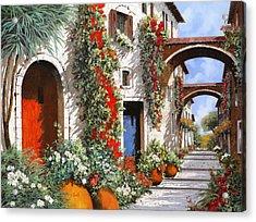 Porta Rossa Porta Blu Acrylic Print by Guido Borelli