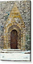 Portal Of St. Lachtain Acrylic Print by John Walsh